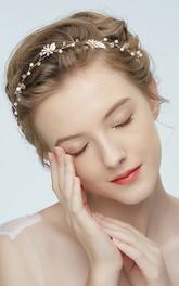 Pearly Headdress Simple Style Wedding Headdress
