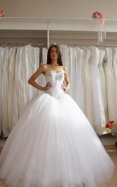 Tulle Ball Gown With Sweetheart Neckline and Crystal Detailing