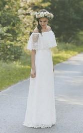 Lace Vintage Boho Light Lace Wedding Dress
