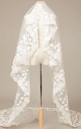 Romantic Flower 3 Meters Long Wedding Veil