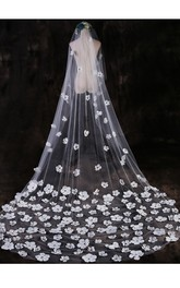 Beautiful Fairy Petals Wedding Veil 3 Meters Long Veil