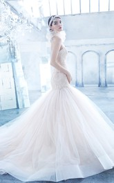 Exquisite Sweetheart Lace Bodice Fit and Flare Tulle Dress