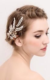 The New Aesthetic Handmade White Beads Small Fresh Sweet Bride Headdress