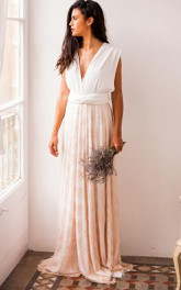Rustic Rose Quartz Wedding Rose Gold Lace Wedding Gown Lace Bridal Gown Pale Pink Wedding Beige Pink Lace Wedding Dress