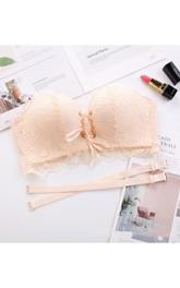 Elegant Strapless Bra with Lace