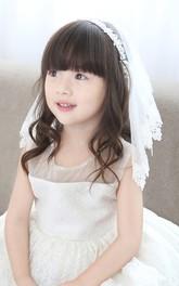 Sweet Floral Applique Tulle Shoulder Veil