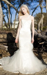 One Shoulder A-Line Sleeveless Tulle Dress With Beading Appliques
