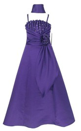 Sleeveless A-line Pleated Criss Cross Dress With Spaghetti Straps