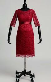 Sheath Illusion Half Sleeve Maternity Dress