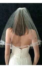 Simple Retro Single Layer Mesh Bride Wedding Veil