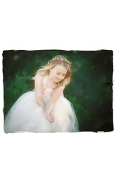 Jewel Floral Bodice Layered Tulle Ball Gown With Bow