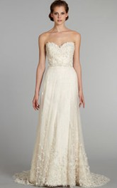 Sassy Beaded Embroidered Tulle Dress With Jeweled Band