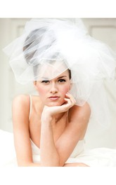 Korean Style Fluffy Tulle Wedding Veil