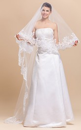 Gracious One-tier Tulle Chapel Wedding Veil
