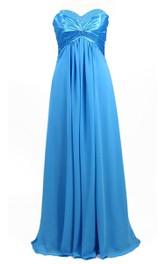 Sweetheart Empire Chiffon Dress With Beadings