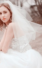 Double-layer Tulle Bride Wedding Veil With Insert Comb