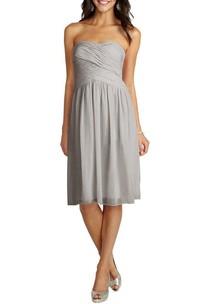 Strapless Ruched Chiffon Short Dress