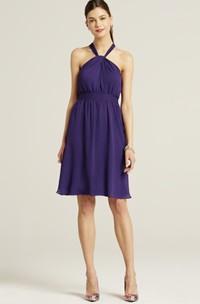 Chiffon Halter-Neck A-Line Sassy Short Dress