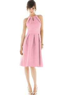 A-Line Chic Knee-Length Halter Sleeveless Dress