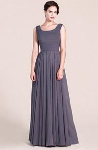 Charming Sleeveless A-line Pleated Chiffon Dress