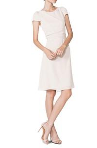 Sexy Back Short Sleeve Chiffon Dress