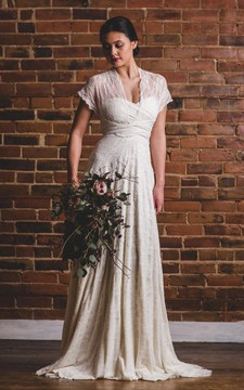 Florence Full Lace Overlay Infinity Convertible Wedding Gown Dress