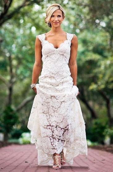 Casual Bridal Dresses Retro Lace Wedding Gowns Dorris Wedding
