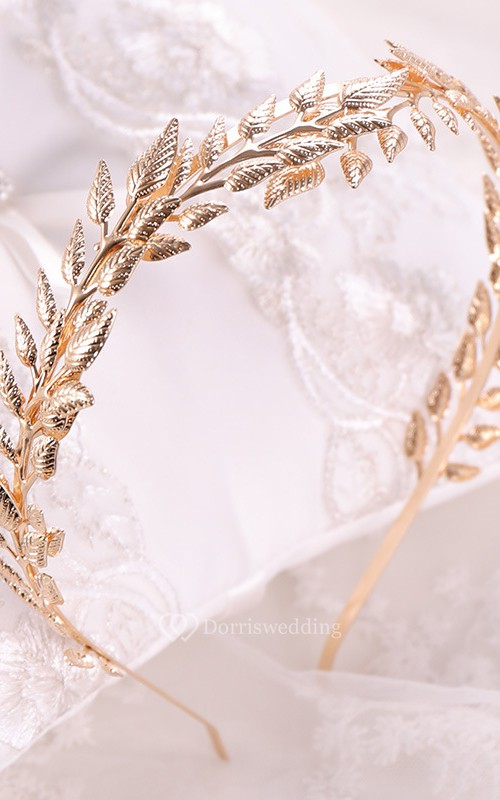 European Handmade Vintage Golden Baroque Willow Branches Flowers Headband